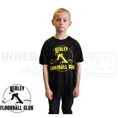 Funktionel t-shirt med navn og nr. ryg - Herlev Floorball - ICE-T