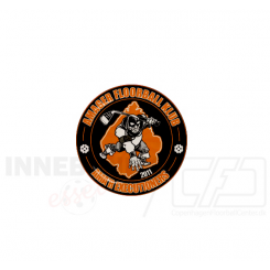 End cap med logo - Amager Floorball Klub