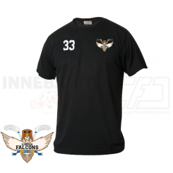 Funktionel T-shirt - Fjorden Falcons - ICE-T Sort