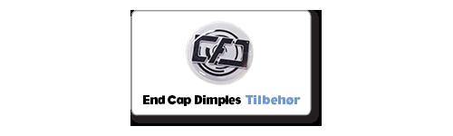 End cap dimples